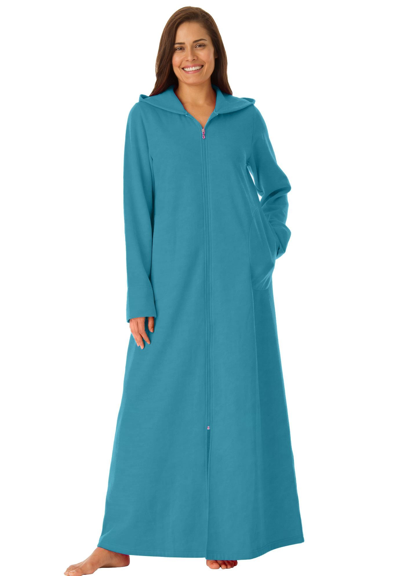 800c85c0cb1 Petite Hooded Fleece Robe by Dreams   Co. reg  - Women s Plus Size Clothing