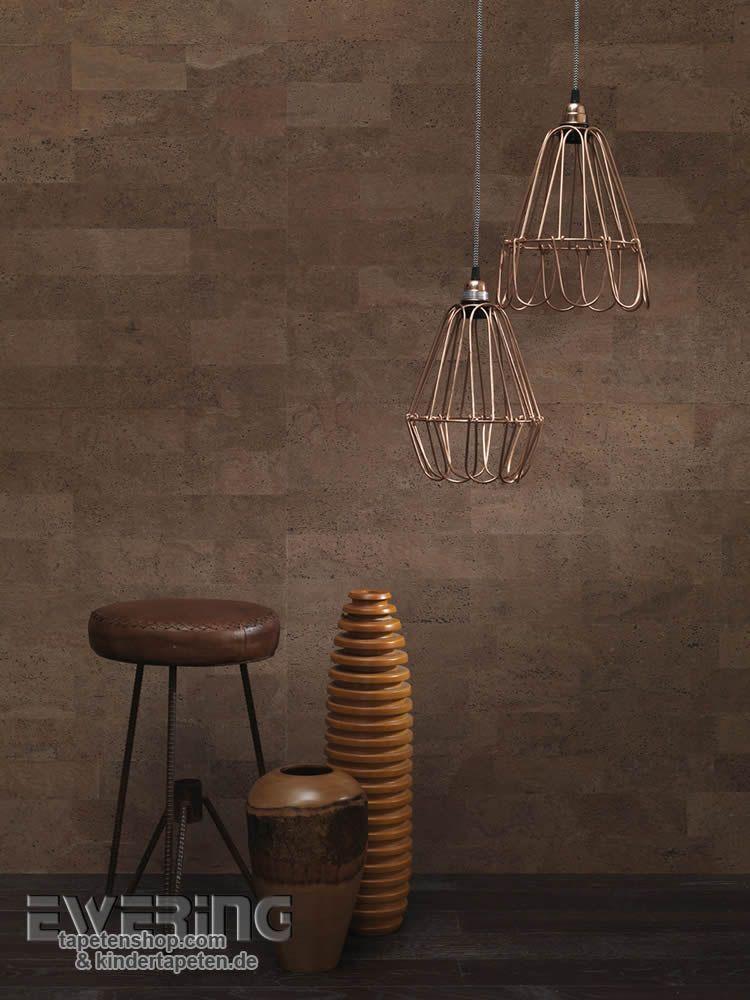23 vista 5 01 die braune kork tapete schafft ein modernes. Black Bedroom Furniture Sets. Home Design Ideas