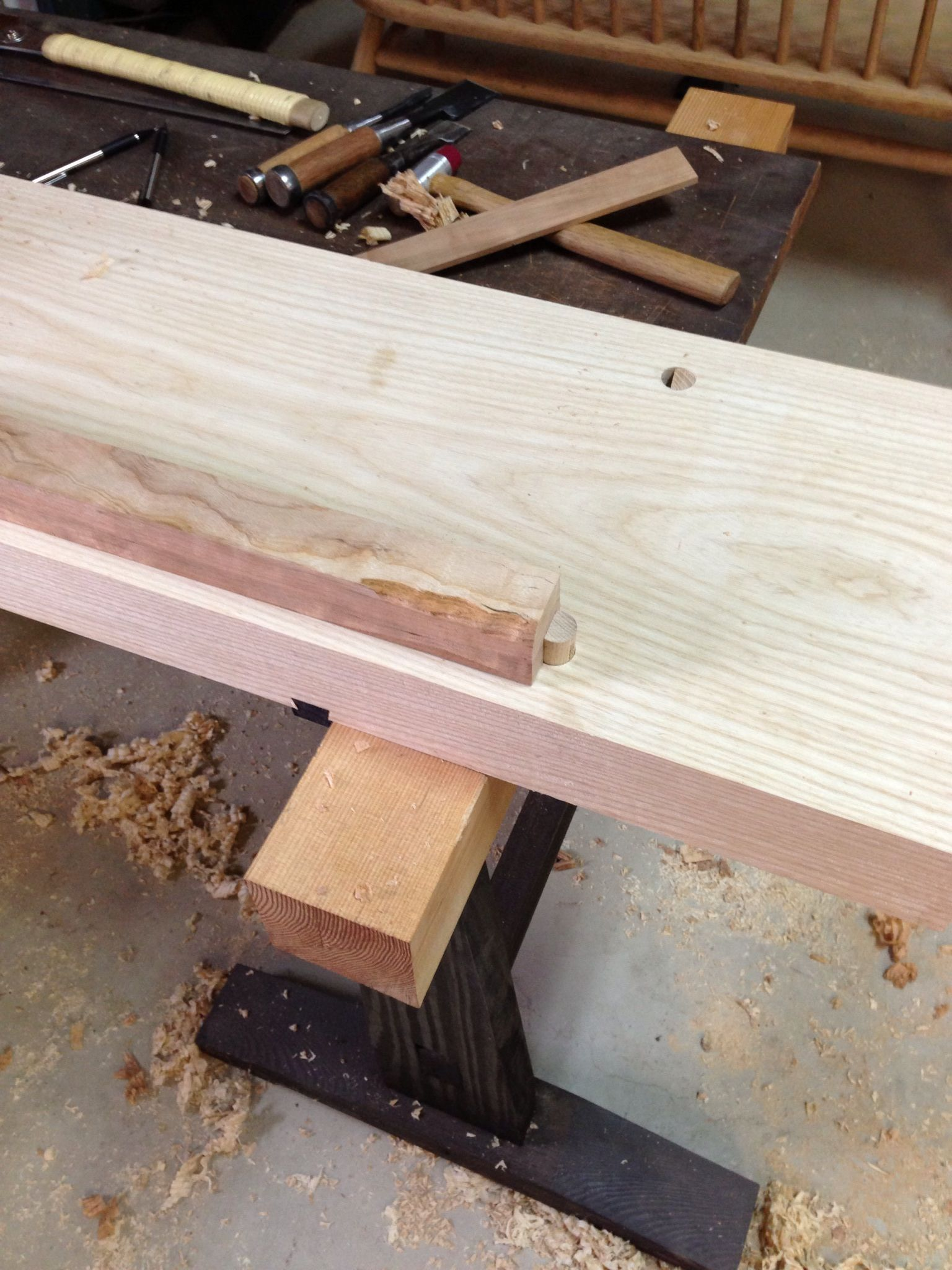 Cool A Slab Top For The Japanese Workbench Digital Woodworker Dailytribune Chair Design For Home Dailytribuneorg
