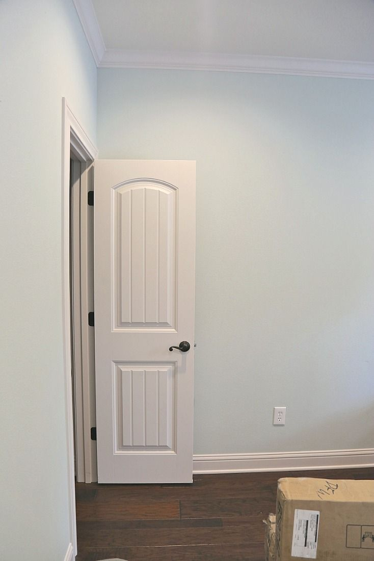 Wall color is beach glass benjamin moore