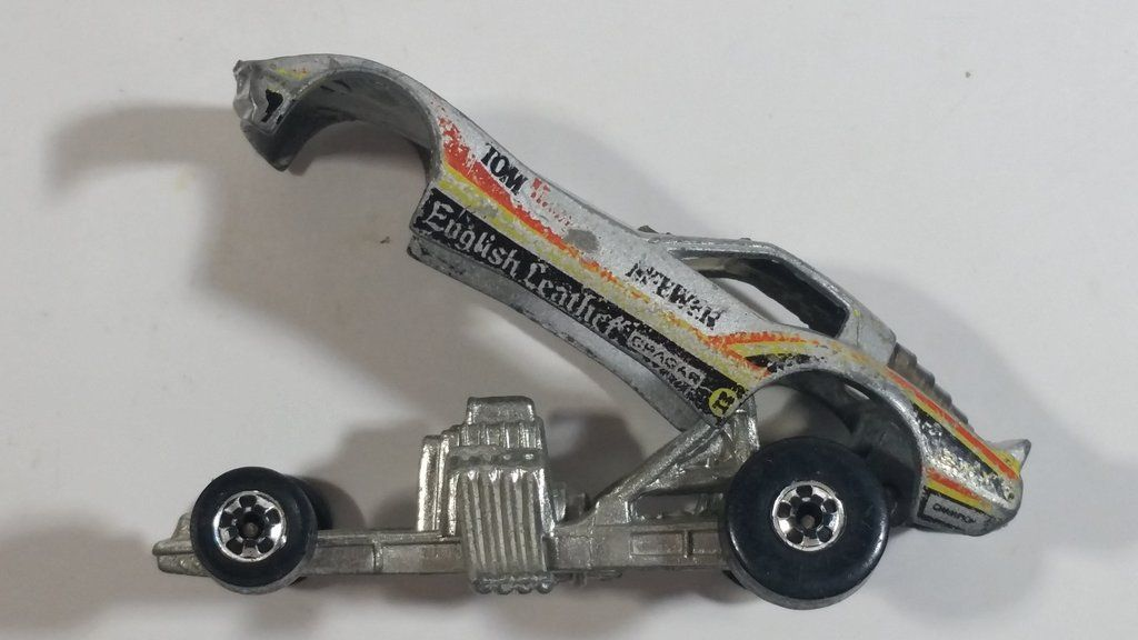 1982 Hot Wheels Vetty Funny Corvette Funny Car Grey Die Cast Toy Drag Racing Car Vehicle Drag Racing Hot Wheels Drag Racing Cars