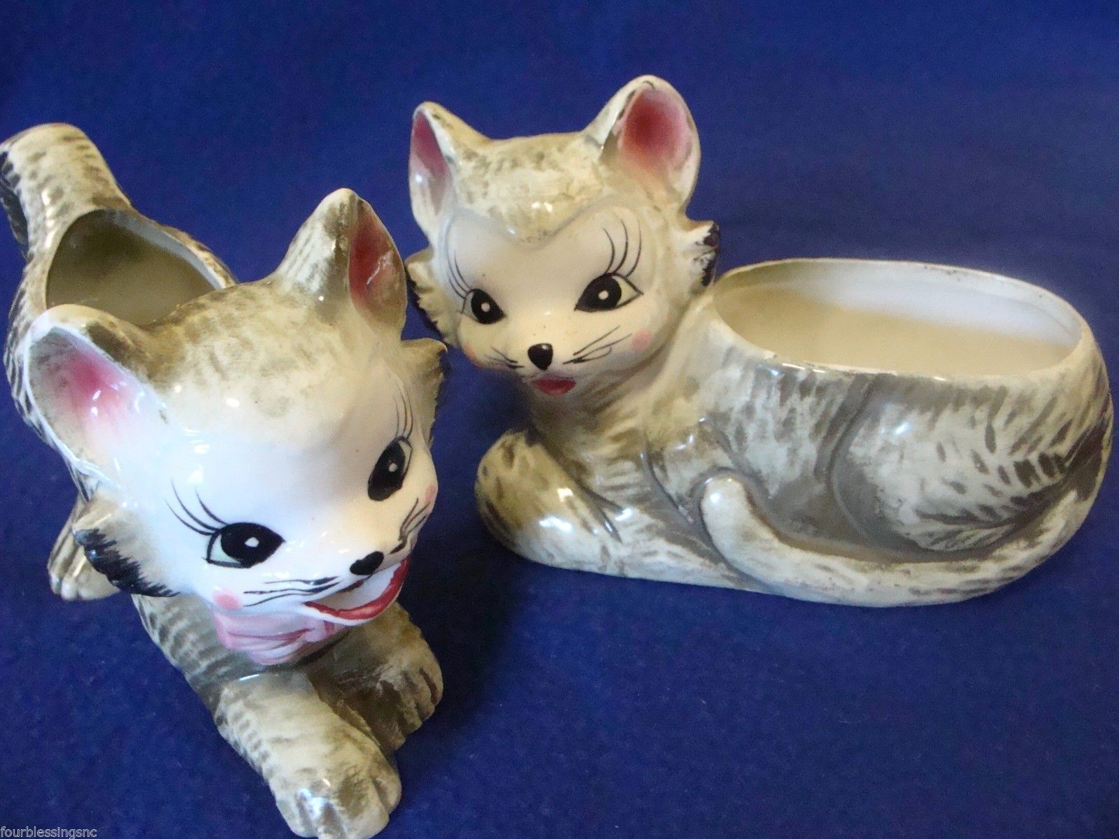 Vintage Pacific Japan Hand Painted Cat Kitten Sugar Bowl Creamer Marked Hand Painted Cat Cats Cats And Kittens