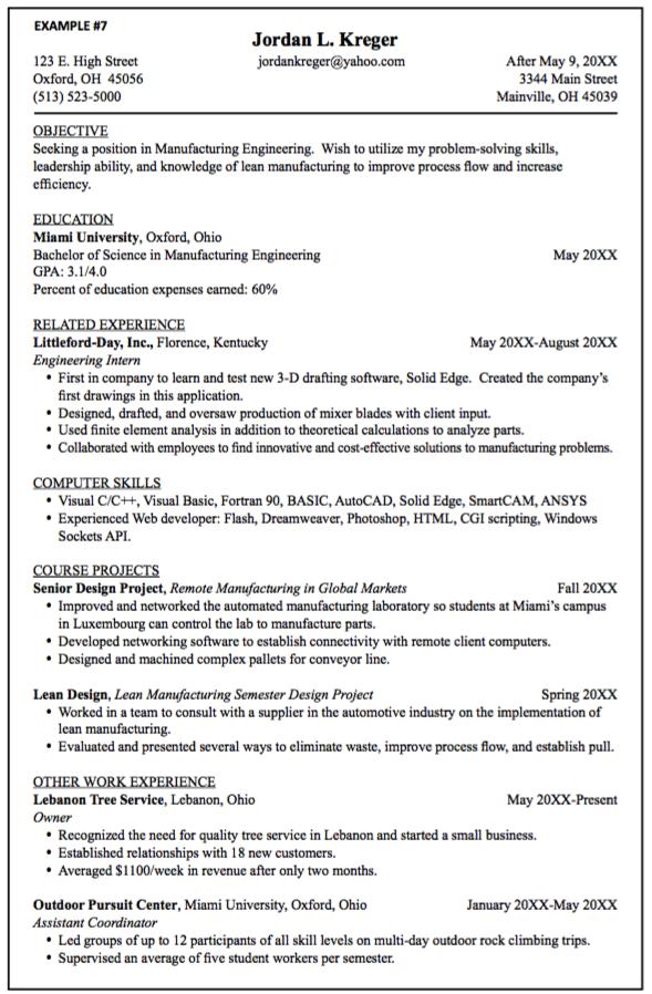 Manufacturing Engineering Resume Samples Examples Resume Cv Engineering Resume Manufacturing Engineering Resume Examples