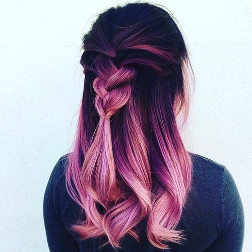 Hair Pink And Hairstyle Image Hair Styles Hair Color Pastel Gold Ombre Hair