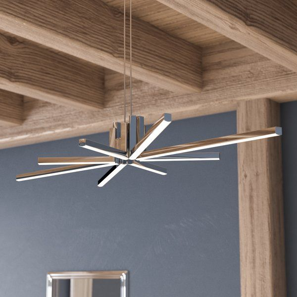 Bring A Contemporary Touch To Your Look With This Striking Chandelier.  Featuring A Sputnik