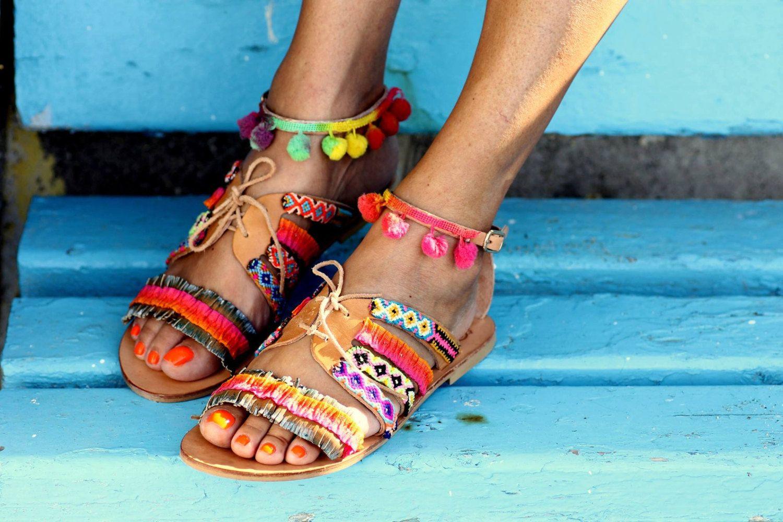 8e6d3914e1481c Sandals Hula Hoop handmade to order by ElinaLinardaki on Etsy