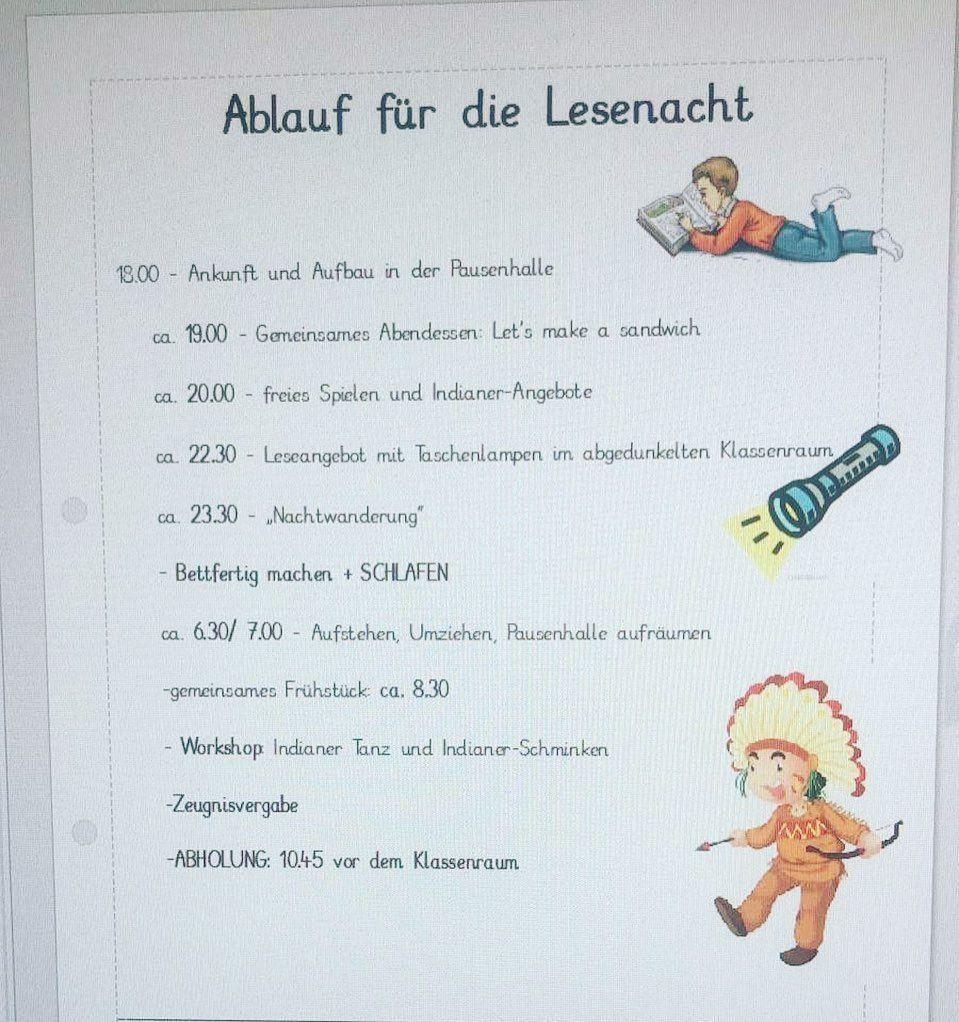 Pin Von Marie Lou Auf 3 Klasse Lesenacht Lesen Lehramt