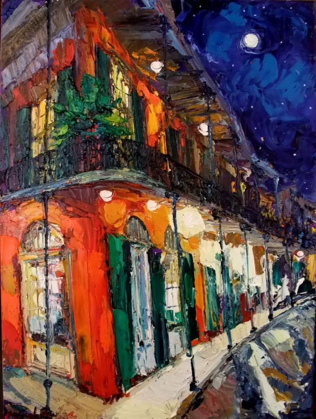 Elegant James Michalopoulos  New Orleans Artist.