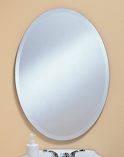 Powder Room 307 Bevel Oval Mirror