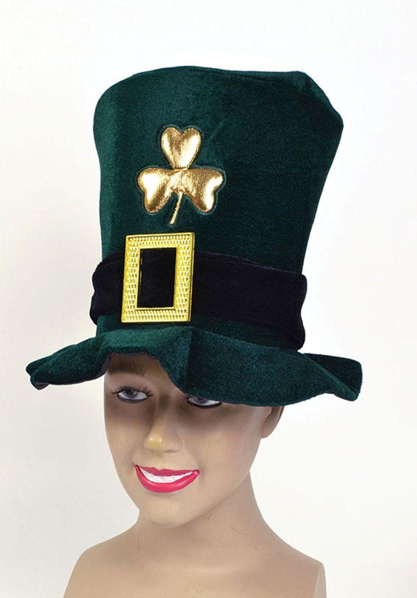 GREEN TOP HAT LEPRECHAUN IRISH IRELAND FANCY DRESS ST PATRICK/'S DAY ADULT UNISEX