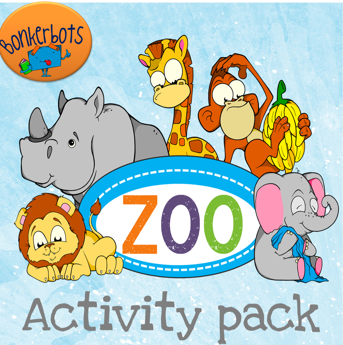 Zoo Activity Pack Features Puzzles Worksheets Flashcards