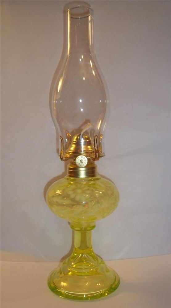 Details About Mosser Glass Daisy Amp Fern Yellow Vaseline