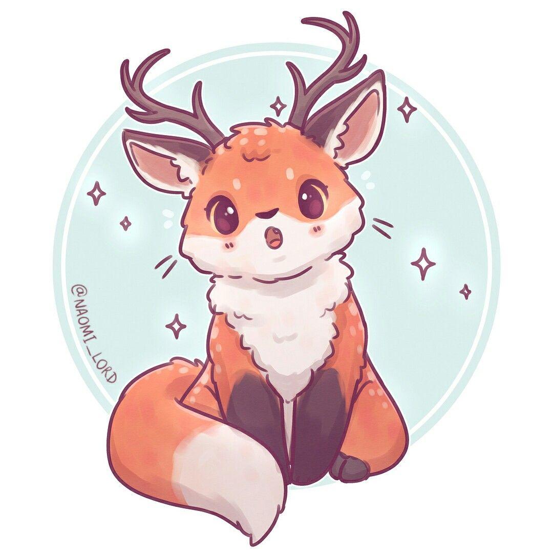 Credit To The Artist Cute Animal Drawings Cute Animal Drawings Kawaii Cute Kawaii Drawings
