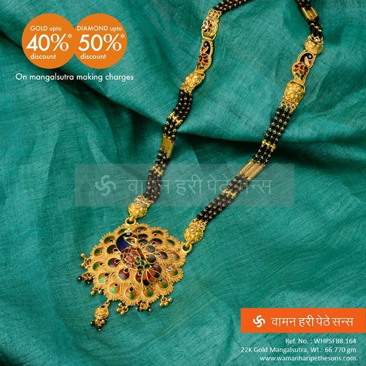 Mangalsutrafestival our festive collection of beautiful glamorous gold mangalsutra peacock also best images body jewellery rh pinterest