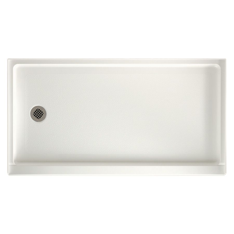 Swanstone Bisque Solid Surface Shower Base Common 32 In W X 60