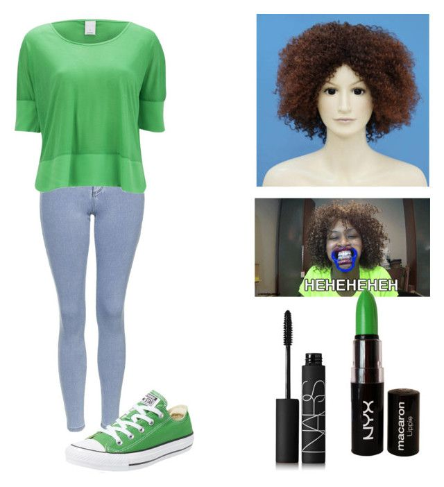 """""""Glozell Costume"""" by musicmaniac12 ❤ liked on Polyvore featuring Wigs2You, Topshop, Vero Moda, Converse, NYX and NARS Cosmetics"""