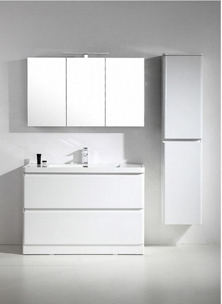 Tona 48 Narrow Gloss White Modern Bathroom Vanity Koupelna