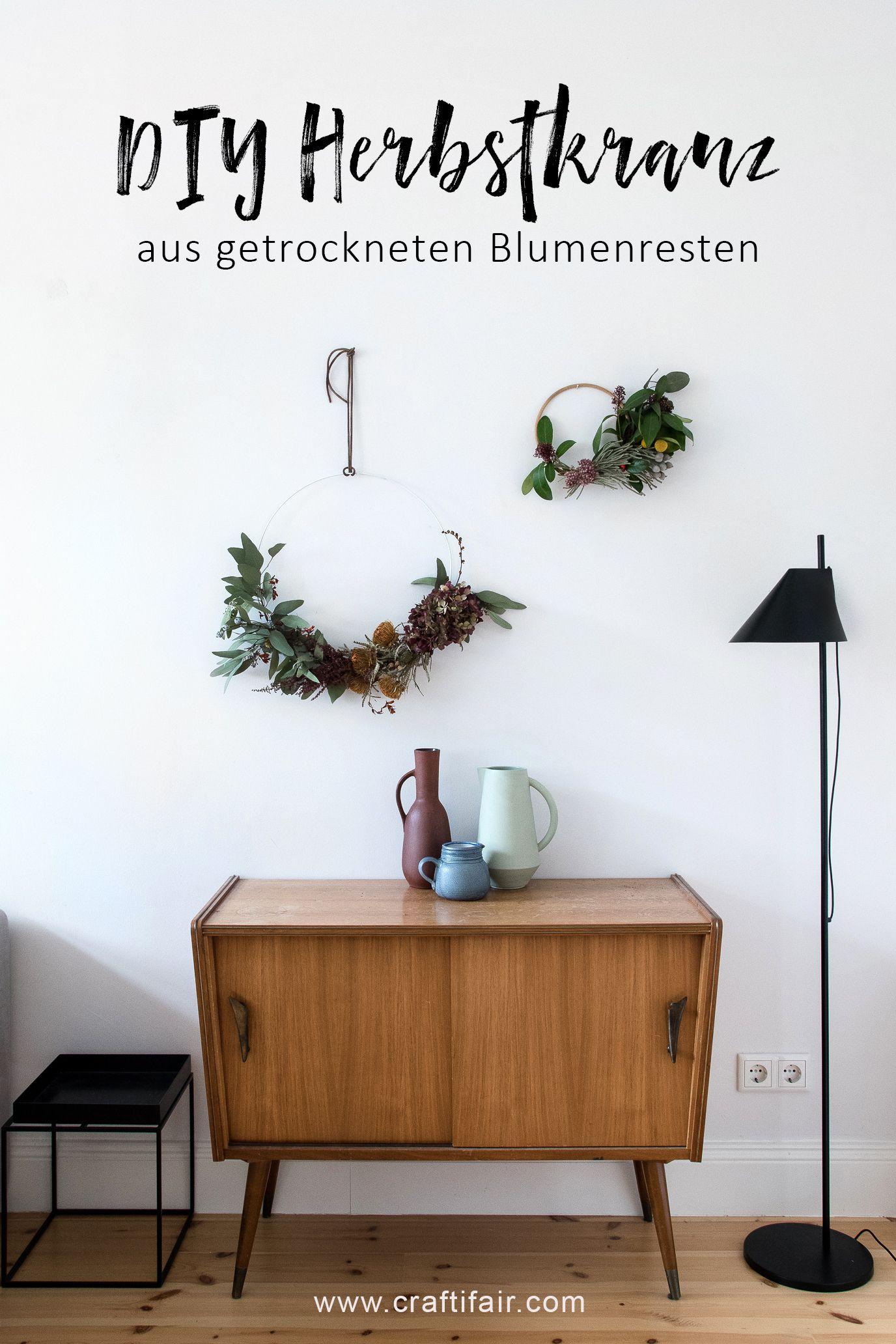 Der Restekranz - Vom Blumenstrauß zum selbstgemachten ...