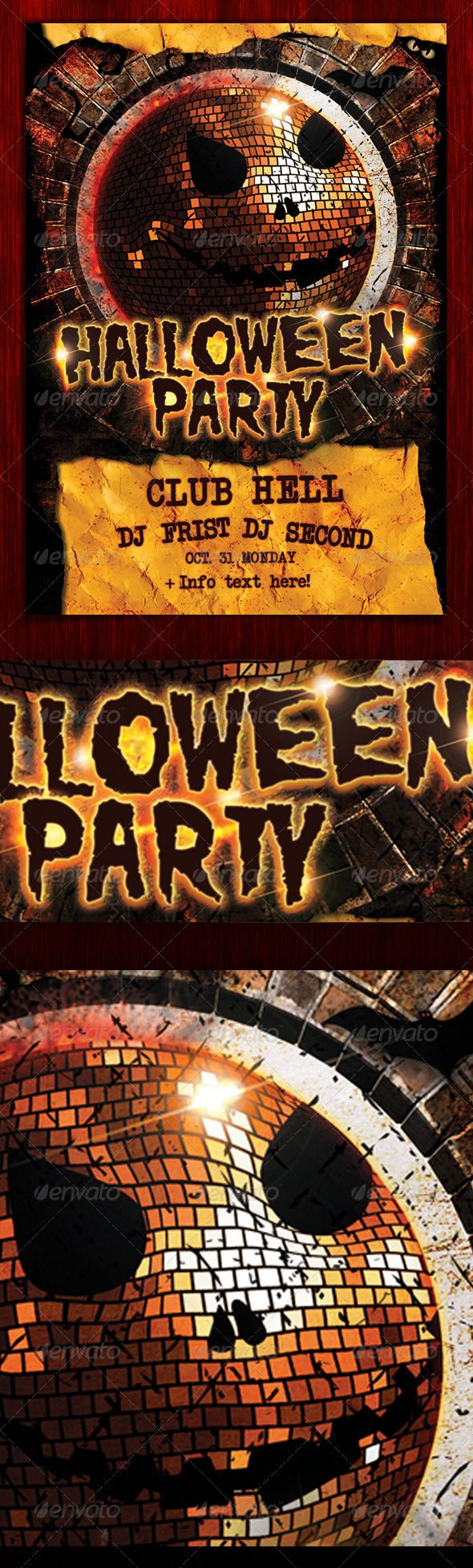 Halloween Party Flyer (psd) | Halloween party flyer and Party flyer