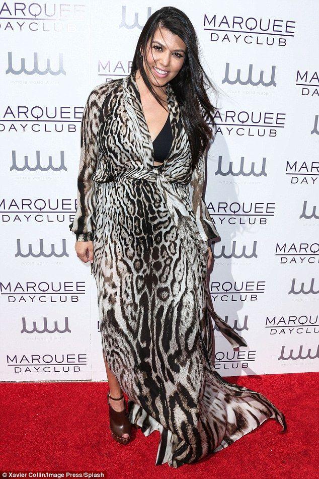 Take a walk on the wild side in Kourtney's Roberto Cavalli dress #DailyMail