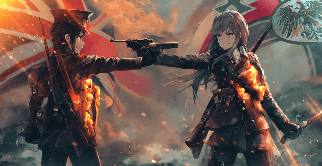 Battlefield 1 Anime Art 60fps 1080p Wallpaper Engine Anime Latar Belakang Animasi Seni Anime Animasi 3d