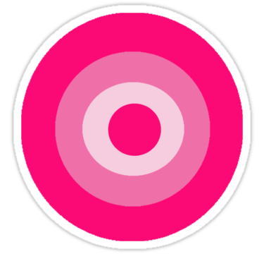 Pink Target Sticker By Jojobob Pink Pink Iphone Aesthetic Stickers