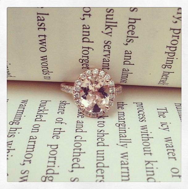 We are in love with our rose gold engagement rings with morganite. What do you think?