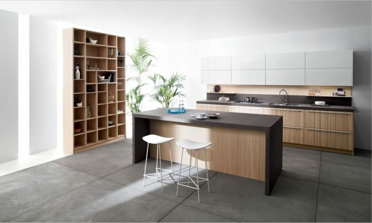 Cuisine noire et bois - un espace moderne et intrigant cuisine