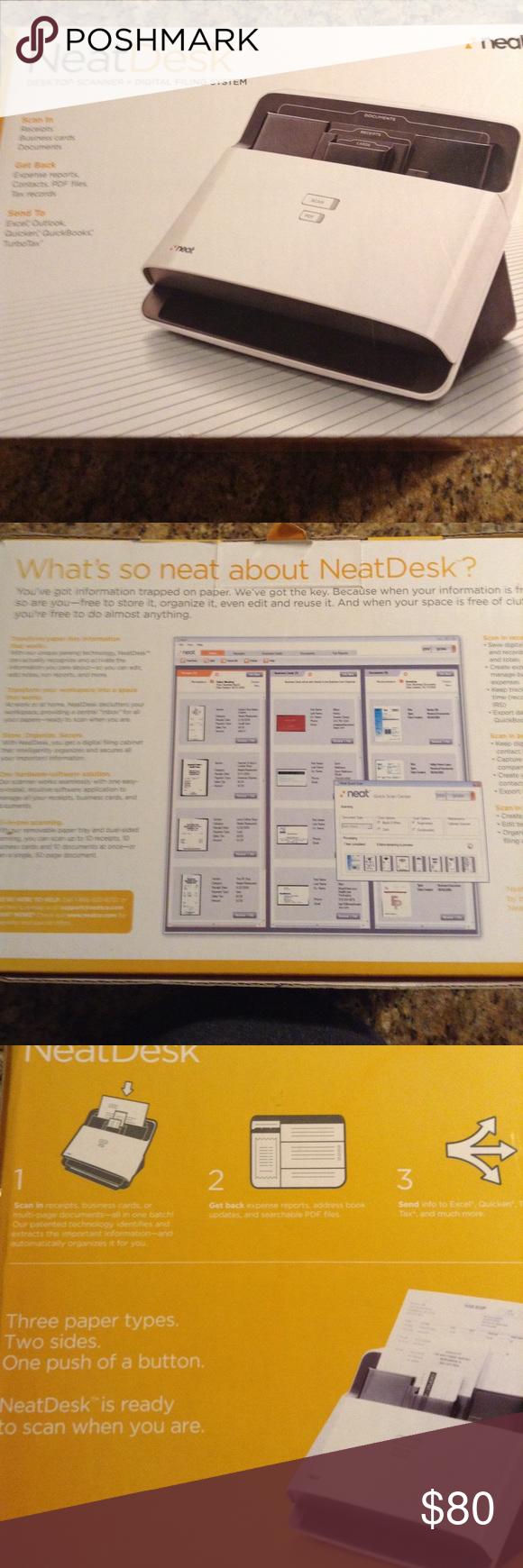 Neat Desk Desktop Scanner Digital Filing System Neat Desk Filing System Digital Filing System