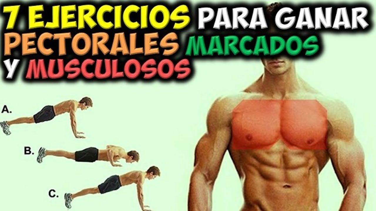 7 Ejercicios Para Ganar Pectorales Marcados Y Musculosos En Casa E Youtube