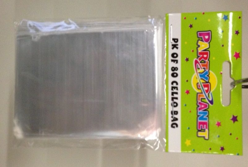 Cello Bags Clear 80 Pack for the reindeer noses