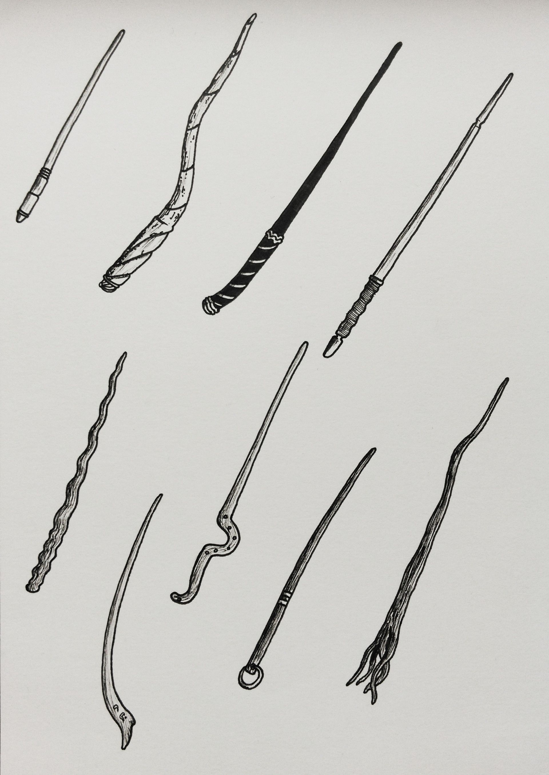 Pin By The Mockingbird On Wand Concepts Harry Potter Wand Wands Wand Tattoo