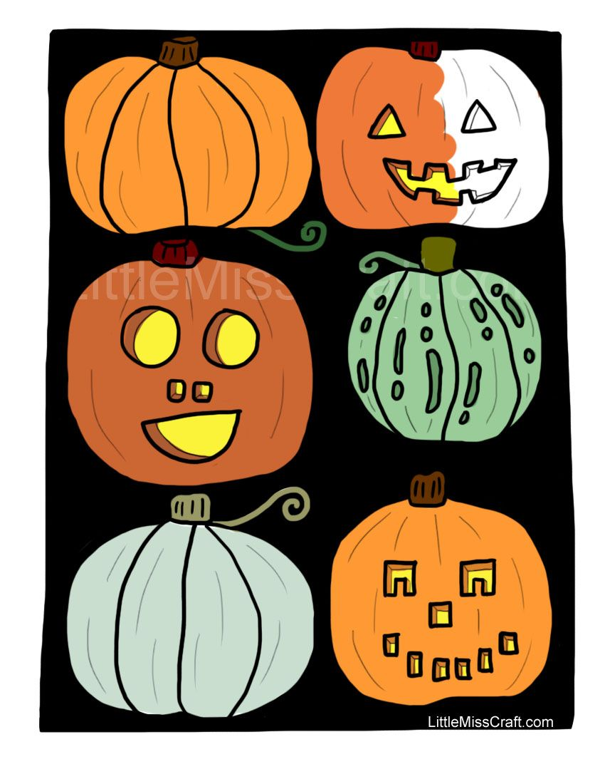 Fun pumpkin coloring page for kids adults alike print at