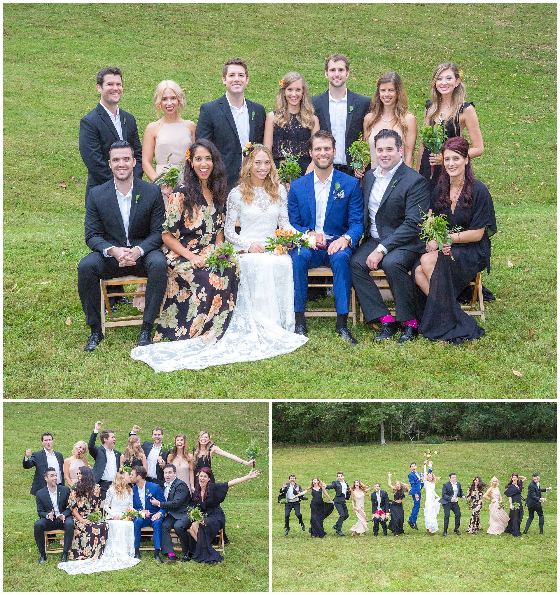October wedding at the gardens at china grove in lexington