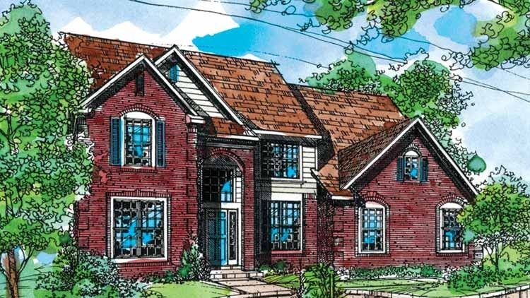Floor Plan AFLFPW71785 - 2 Story Home Design with 3 BRs and 3 Baths