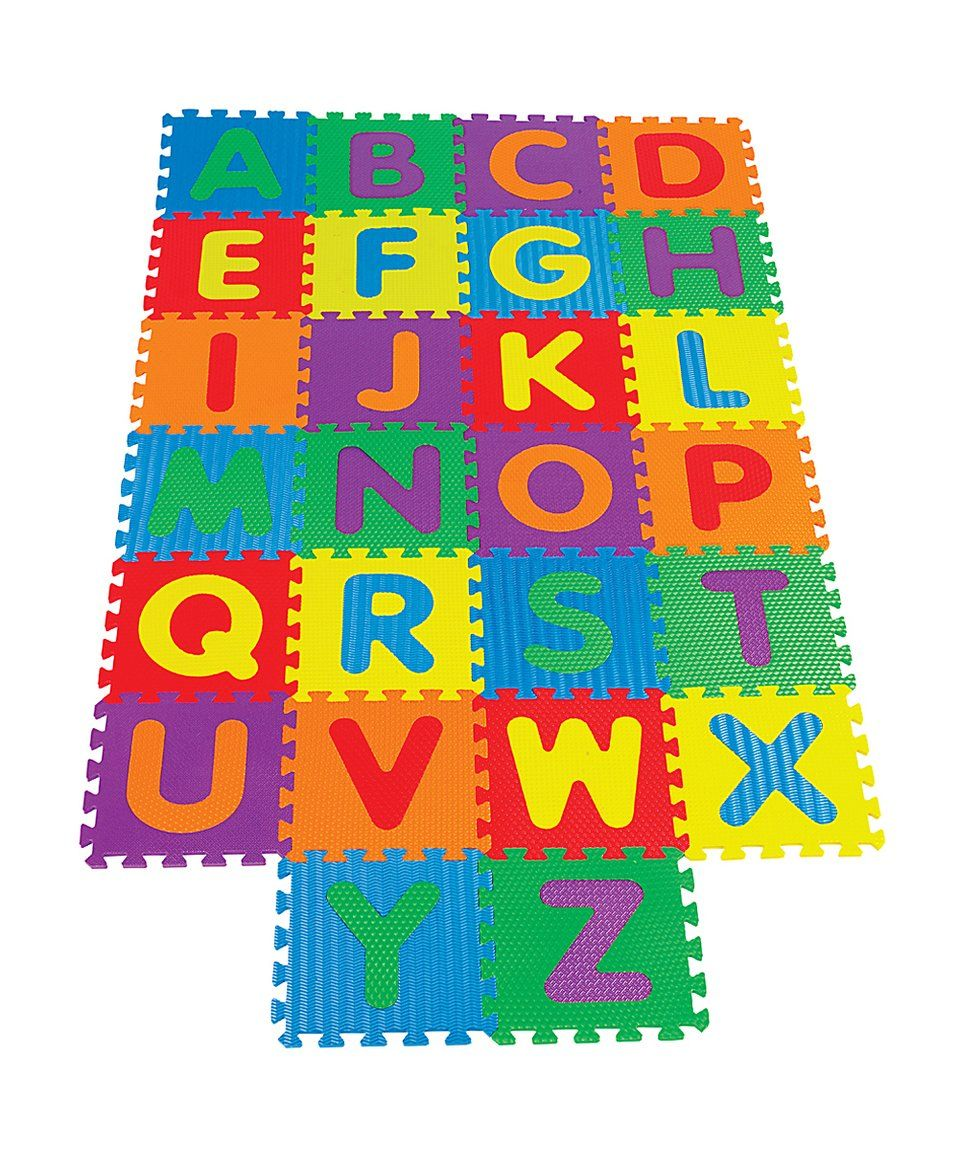 Take a look at this Alphabet Puzzle Mat Set today! Kids