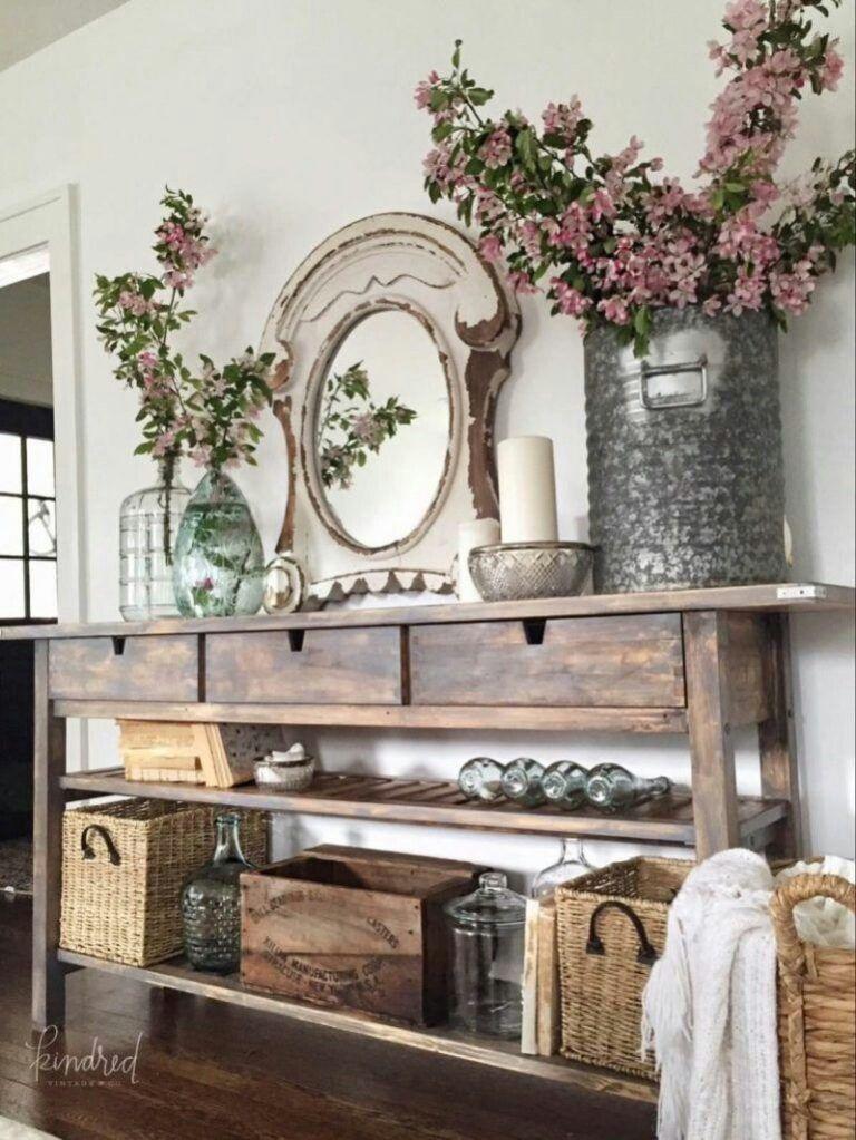21+ Rustic Farmhouse Spring Decor Ideas that are So Simple to Recreate!