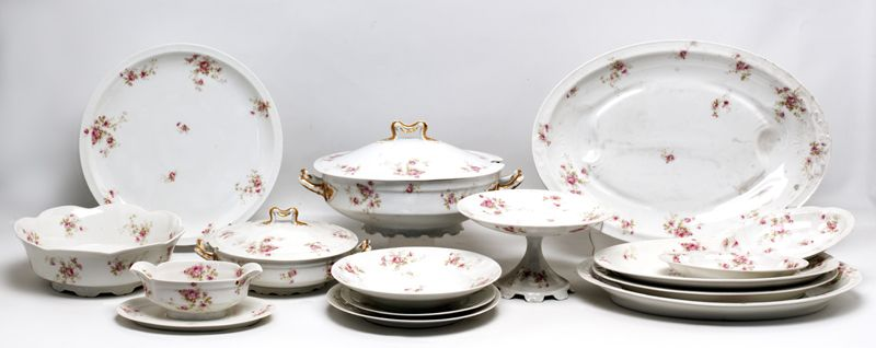 Vajilla de porcelana francesa de limoges con marcas de for Marcas de vajillas