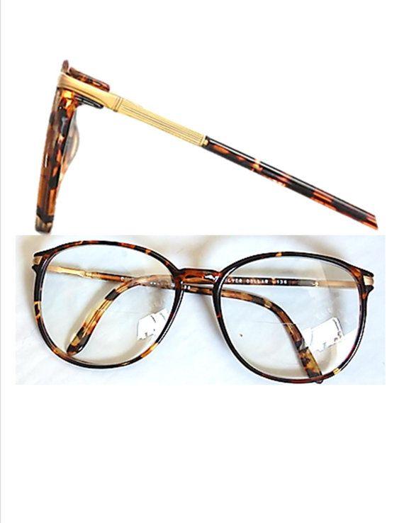 Vintage,80's,Tortoise Shell,Eye Glasses,  Eyewear,Accessories,1980's,Unisex,Men's,Women's,Oversized,Horn Rimmed,Big,Round,Rad,Retro,Frames