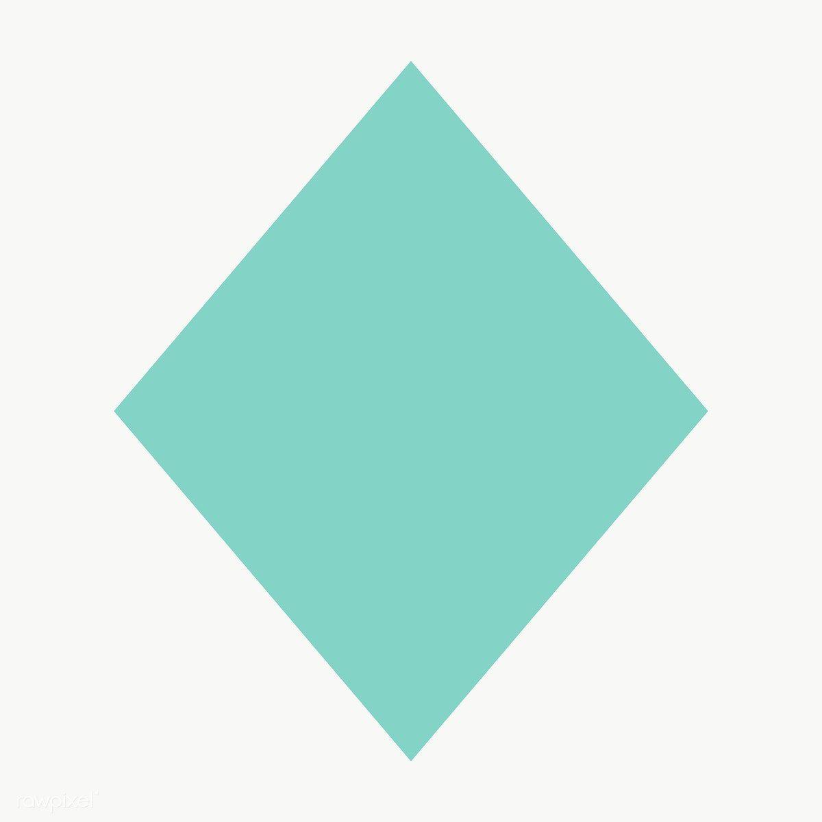 Green Rhombus Geometric Shape Transparent Png Free Image By Rawpixel Com Ningzk V Geometric Shapes Geometric Printable Designs