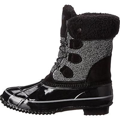 Khombu 1338 Womens Jilly Black Suede Winter Pac Boots Shoes 11 Medium (BM)  BHFO