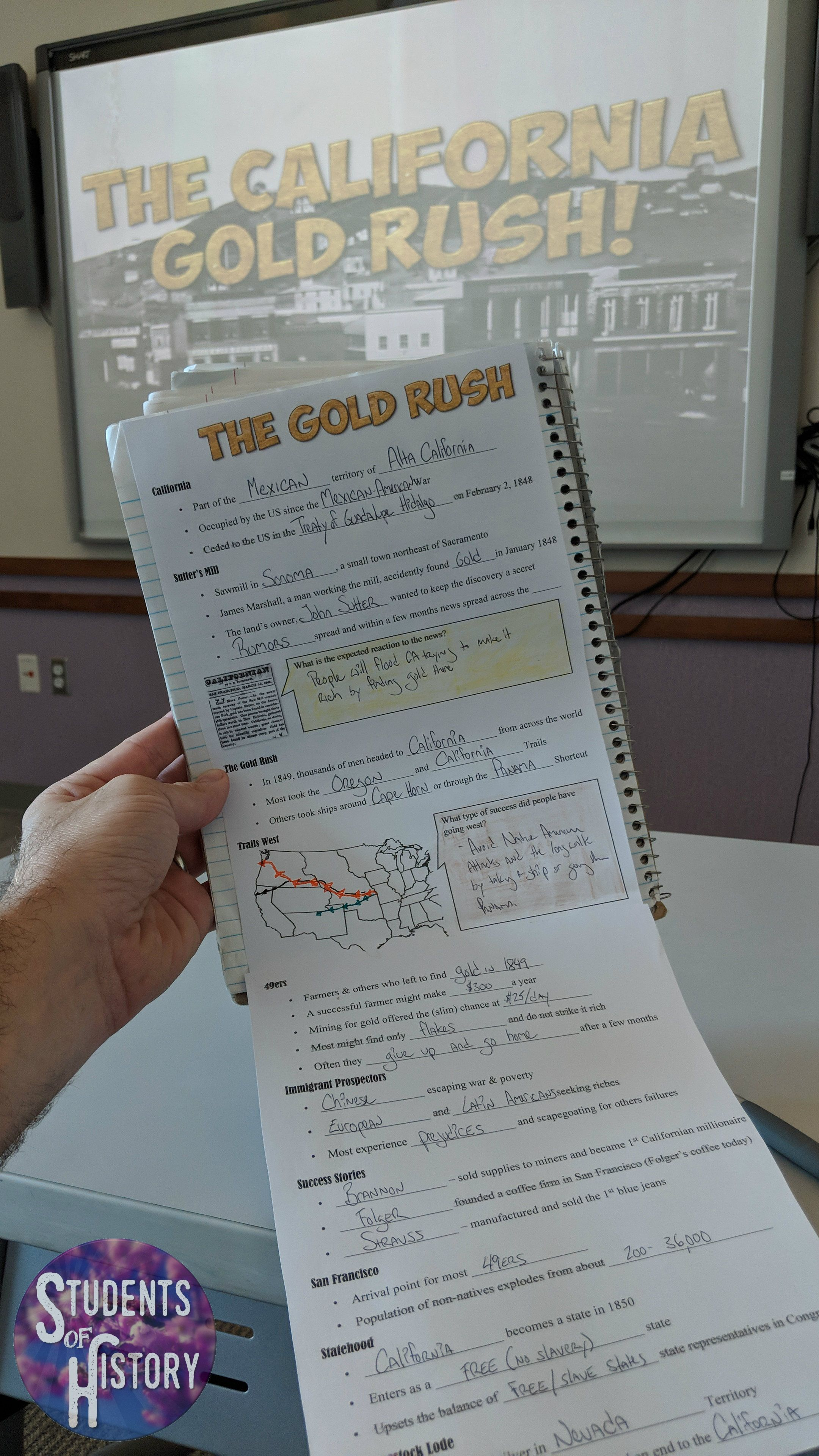 Gold Rush Lesson California Gold Rush California Gold Teaching American History
