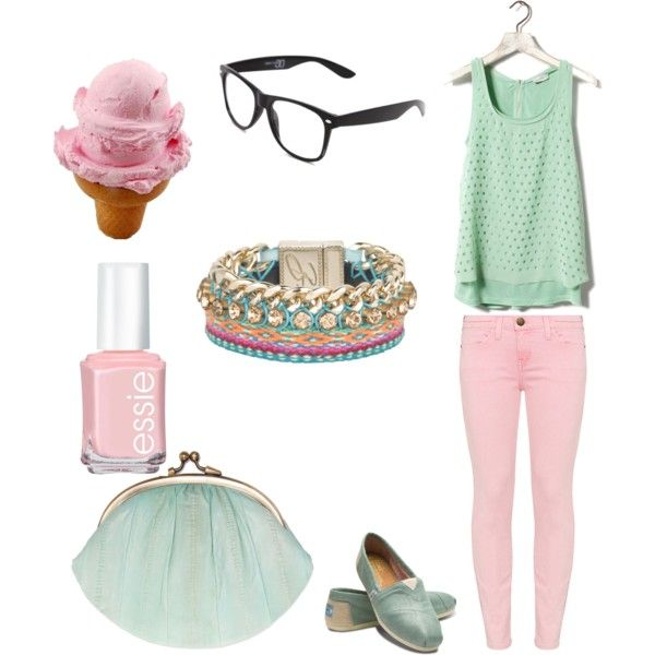 ice cream colors: mint and pink + TOMs