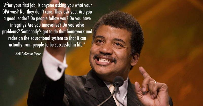 i love this quote because he is right if the education system is