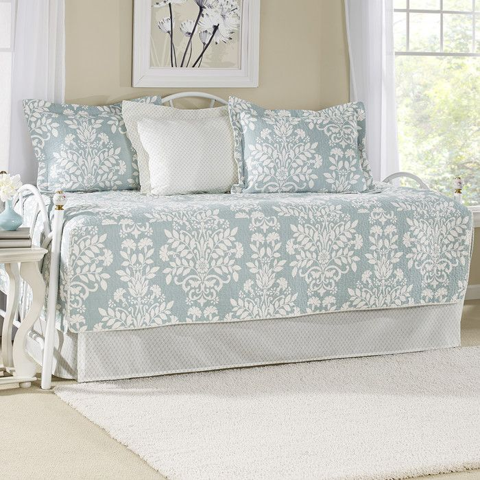 Ivana 5-Piece Cotton Daybed Quilt Set in Breeze by Laura Ashley & Reviews   Joss & Main