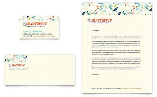 family restaurant letterhead template