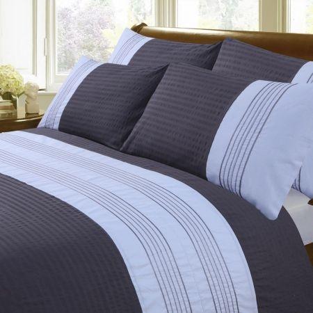 Monaco Bedding - Grey/White