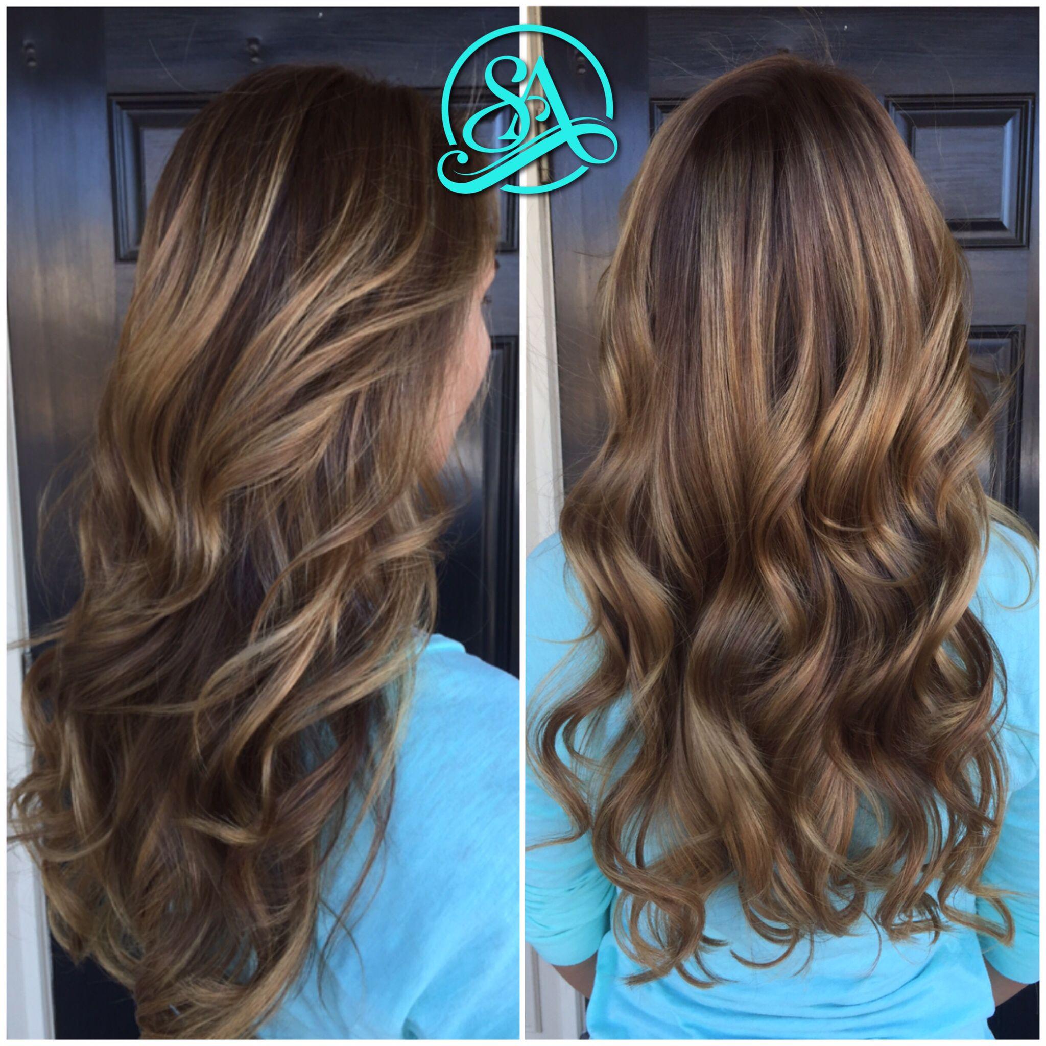 Chocolate blonde balayage. Greenville hair salon. Fusion ...