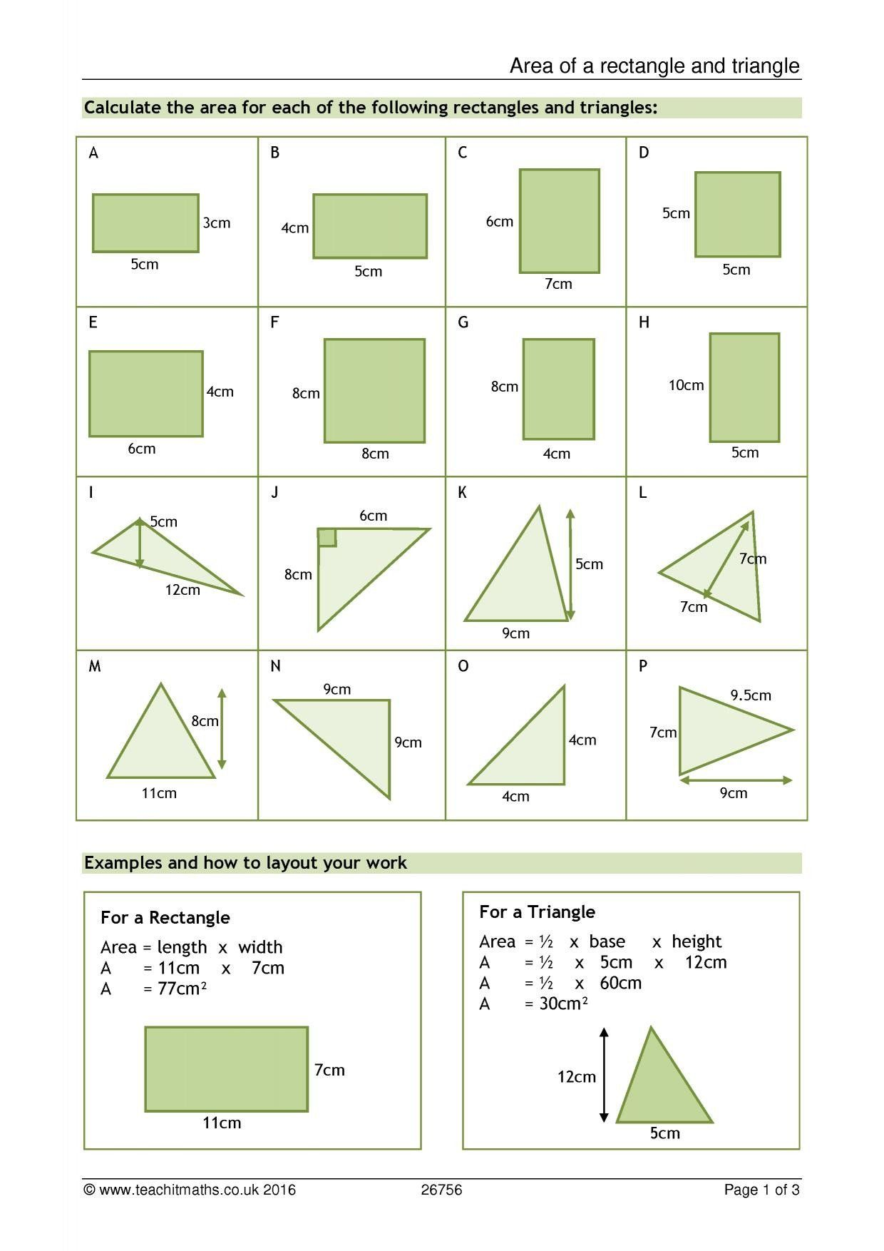 Composite Figure Area Worksheet Rectilinear Area