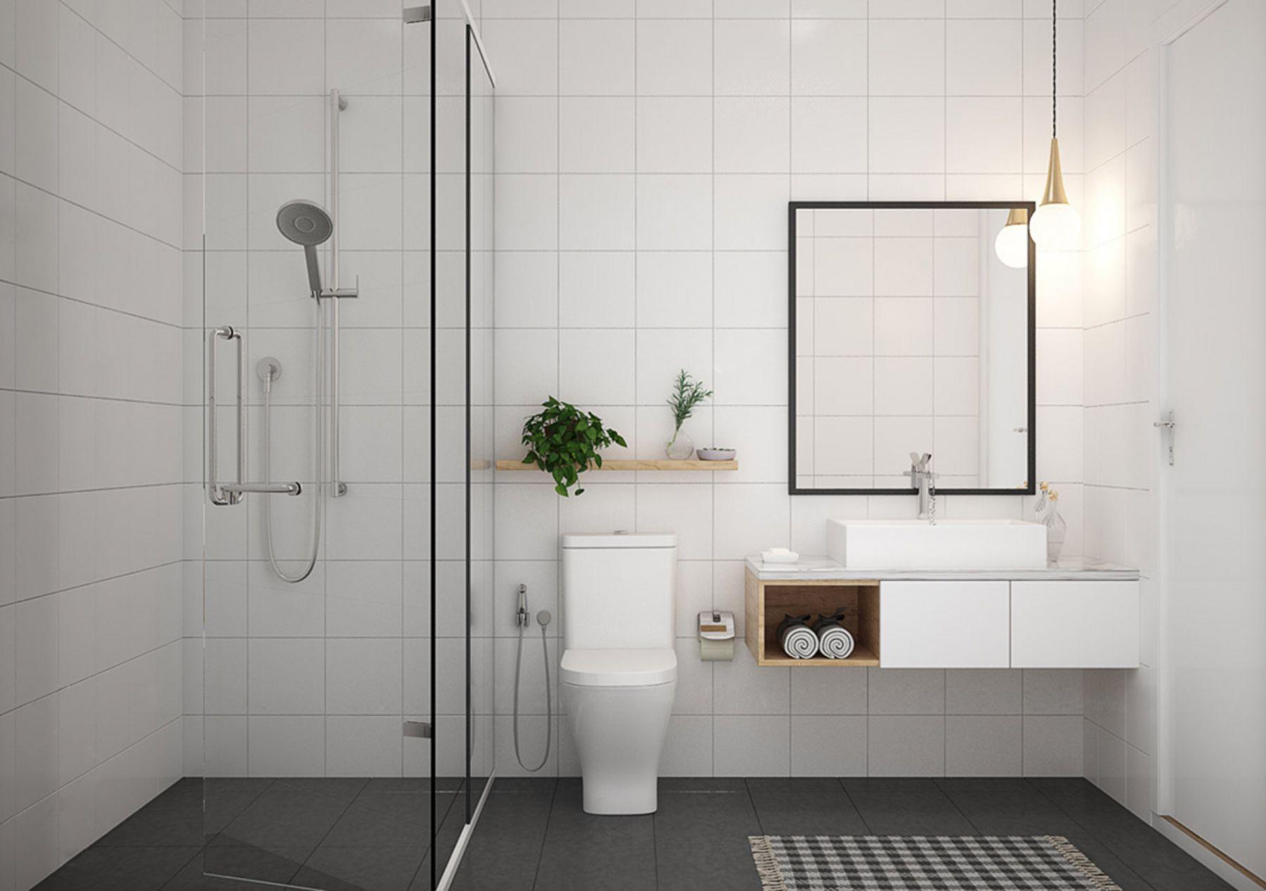12 Attractive Minimalist Bathroom Design Ideas On A Budget Minimalist Bathroom Design Scandinavian Bathroom Design Ideas Bathroom Styling Minimalist bathroom decor idea